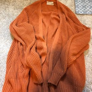 Copper orange cardigan from urban outfitters